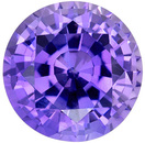 Desirable No Heat Purple Sapphire Genuine Loose Gemstone in Round Cut, 0.89 carats, Medium Easter Purple, 5.5 mm