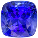 Excellent Blue Sapphire Loose Gem, 6.7 x 6.6 mm, Medium Rich Blue, Cushion Cut, 1.87 carats
