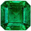 Excellent Emerald Emerald Cut Loose Gemstone Medium Green, 5.7 mm, 1.05 carats