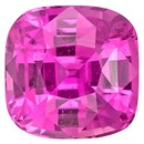 Extraordinary Fine Cushion Cut Loose Pink Sapphire Loose Gemstone, 2.2 carats, 7 x 6.9 mm , Top Gem Material
