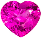 Extreme Hot Pink Sapphire Gem in Heart Cut, 1.67 carats, 7.8 x 7.3 mm