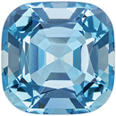 Beautiful Aquamarine Genuine Loose Gemstone in Cushion Cut, 14.05 carats, Rich Sky Blue, 15.3 mm