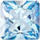 Beautiful Aquamarine Genuine Loose Gemstone in Radiant Cut, 1.22 carats, Medium Rich Blue, 6.6 mm