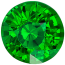 Eye Catching Genuine Loose Tsavorite Gemstone in Round Cut, 1.73 carats, Rich Grass Green, 7.3 mm