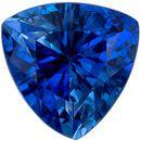 Faceted Blue Sapphire Gem in Trillion Cut, 5 mm in Gorgeous Vivid Rich Blue, 0.6 carats