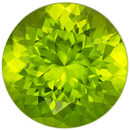 Faceted Peridot Gem in Round Cut, 9 mm in Gorgeous Lime Green, 2.96 carats