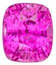 Gem Hot Pink Sapphire Gemstone, Cushion Cut, 2.63 carats, 7.9 x 6.8 mm , AfricaGems Certified - A Deal