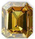 Fancy Deep Brownish Greenish Yellow Diamond 0.48 carats