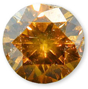 Fancy Slight Orangish Brownish Yellow 0.54 carats