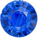 Fiery GenuineFaceted Blue Sapphire Gem in Round Cut, 5.5 mm in Gorgeous Medium Rich Blue, 0.8 carats