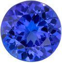 Fiery Genuine Tanzanite Gem in Round Cut, 7.5 mm in Gorgeous Rich Blue Purple, 1.77 carats