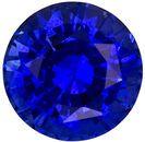 Fiery Stunning 6.5 mm Sapphire Loose Genuine Gemstone in Round Cut, Medium Blue, 1.47 carats