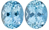 Fine Aquamarine Genuine Loose Gemstone in Oval Cut, 5.33 carats, Rich Sky Blue, 10 x 8 mm