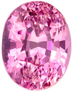 Fine Loose 10.5 x 8.1 mm Sapphire Loose Genuine Gemstone in Oval Cut, Intense Pink, 4.79 carats
