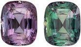 Super Fine Quality GIA Loose Alexandrite Gemstone in Cushion Cut, 2.62 carats, Green Blue to Burgundy, 8.38 x 6.8 x 5.13 mm