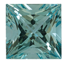 Genuine Aquamarine Gemstone in Princess Cut, 19.76 carats, 16.54 mm, Rare No Heat Aqua