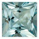 Genuine Aquamarine Gemstone in Princess Cut, 23.52 carats, 18.22 mm , Rare No Heat Aqua
