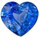 Genuine Blue Sapphire Gemstone, 2.05 Carats, Heart Shape, 7.6 x 7mm, Excellent Rich Blue Color
