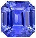 Genuine Blue Sapphire Gemstone, 3.04 carats, Emerald Shape, 7.6 x 7.1 mm, Impressive Gem