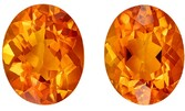 Genuine Citrine Oval Shaped Gemstones Matching Pair, 4.88 carats, 10 x 8mm - Deal on Gem