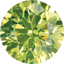 Round Apple Green Enhanced Diamonds
