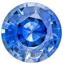 Genuine Gem Blue Sapphire Round Shaped Gemstone, 0.95 carats, 6mm - Low Price on