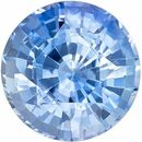 Genuine Gem Blue Sapphire Round Shaped Gemstone, 1.16 carats, 6mm - Great Colored Gem