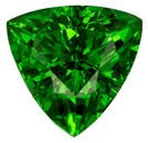 Genuine Vivid Tsavorite Gemstone, Trillion Cut, 0.91 carats, 6.5 mm , AfricaGems Certified - A Great Buy