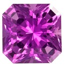 Genuine Pink Sapphire Gemstone, Radiant Cut, 0.73 carats, 5 mm , AfricaGems Certified - A Hard to Find Gem