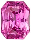 Genuine Pink Sapphire Gemstone, Radiant Cut, 1.16 carats, 6.6 x 5.1 mm , AfricaGems Certified - A Deal