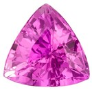 Genuine Pink Sapphire Gemstone, Trillion Cut, 0.94 carats, 6 mm , AfricaGems Certified - A Great Deal