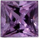 Genuine Purple Sapphire Princess Cut in Grade AAA