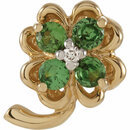 Shop Genuine Tsavorite Garnet and Diamond Clover Pendant