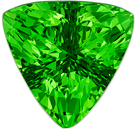 Genuine Tsavorite Gem in Trillion Cut, 7.4 mm in Gorgeous Medium Grass Green, 1.45 carats