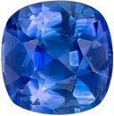 GIA Certified Genuine Blue Sapphire Gem in Cushion Cut, 6.58 x 6.44 mm in Gorgeous Intense Rich Blue, 1.45 carats