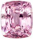 GIA Certified Unheated 8.3 x 7.1 mm Padparadscha Sapphire Genuine Gemstone in Cushion Cut, Orangish Pink, 3 carats