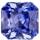 Faceted Blue Sapphire Gemstone, Radiant Cut, 0.99 carats, 5.55 x 5.49 x 3.58 mm , GIA Certified - A Great Buy