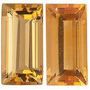 GOLDEN CITRINE  Baguette Cut Gems - Calibrated
