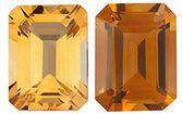 GOLDEN CITRINE  Emerald Cut Gems - Calibrated