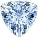 Deal on Brilliant Aquamarine Genuine Loose Gemstone in Trillion Cut, 2.13 carats, Vivid Pure Blue, 8.9 mm