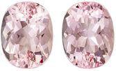 Low Price on Top Gem Pink Morganite Genuine Gemstone, 3.53 carats, Oval Shape, 9 x 7 mm Matching Pair