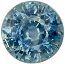 Genuine Loose Blue Green Sapphire Gemstone in Round Cut, 1.18 carats, Teal Blue Green, 5.9 mm