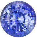 Great Blue Sapphire Loose Gem, Round Cut, Rich Cornflower Blue, 1.35 carats , 6.4 mm