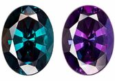 Faceted Color Change Alexandrite Gemstone, Oval Cut, 1.17 carats, 7.68 x 5.74 x 3.8 mm , Gubelin Certified - A Low Price