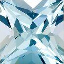 Hard to Find Aquamarine Genuine Loose Gemstone in Princess Cut, 3.37 carats, Medium Blue, 9 mm