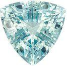 Hard to Find Aquamarine Genuine Loose Gemstone in Trillion Cut, 4.26 carats, Sea Foam Sky Blue, 11.4 mm