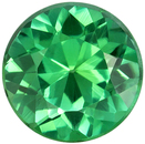 Hard to Find Blue Green Tourmaline Loose Gem in Round Cut, 7 mm, Minty Blue Green, 1.28 carats