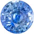 Hard to Find Blue Sapphire Genuine Loose Gemstone in Round Cut, 2.25 carats, Vivid Cornflower Blue, 7.9 mm