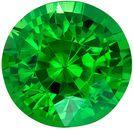Hard to Find Genuine Loose Tsavorite Gemstone in Round Cut, 1.8 carats, Medium Grass Green, 7.2 mm