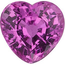 Heart Genuine Pink Sapphire in Grade AAA